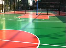 江苏镇江科技技术学校篮球场地